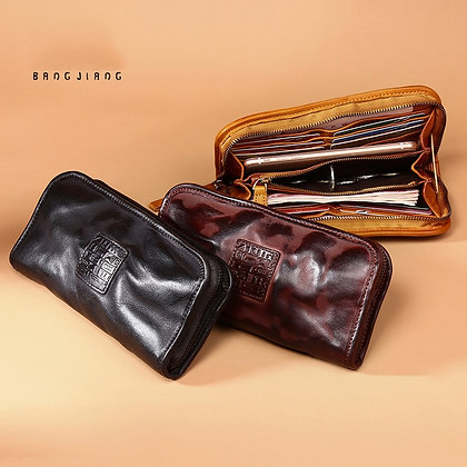 Genuine Leather Wallet Men's Long Large Capacity Cowhide Handbag