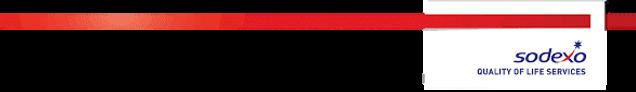 sodexo logo - white block with red ribbo