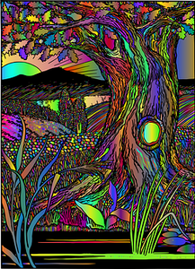 Surreal, Tree, Rainbow    CCO