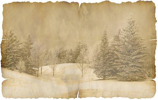 Vintage Winter Scene