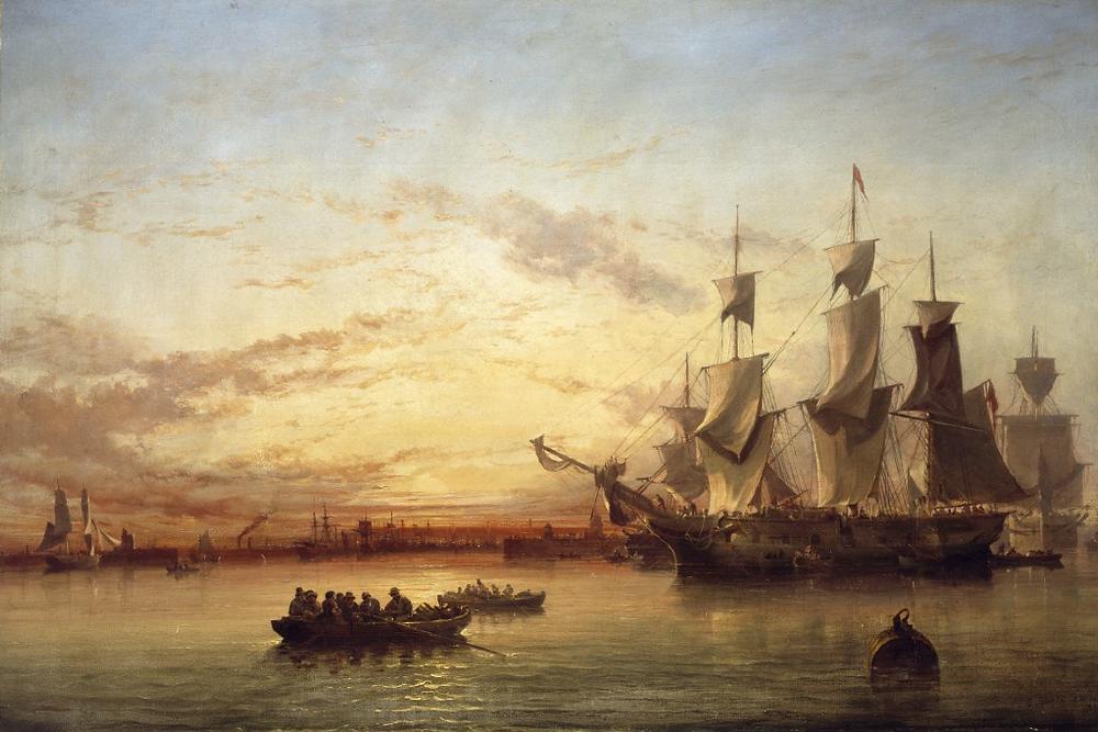1853 Dublin Bay by Edwin Hayes: National Gallery of Ireland