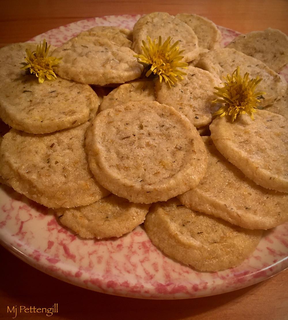 Dandelion Blossom Shortbread Cookies, Mj Pettengill