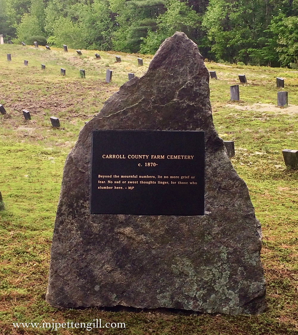 Carroll County Farm Cemetery, Etched in Granite, NH