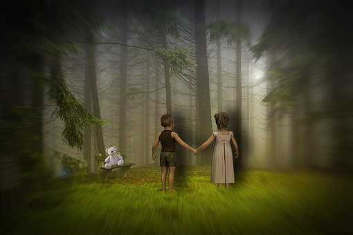 Children, Forest, Dreaming, (CCO)