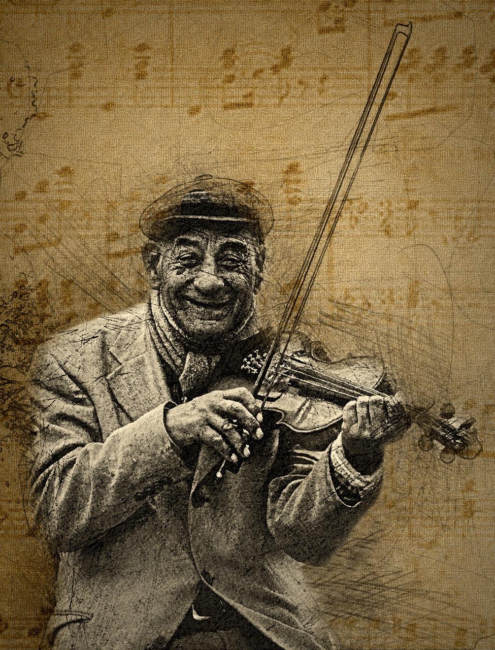 Old Man, Fiddle, Needpix