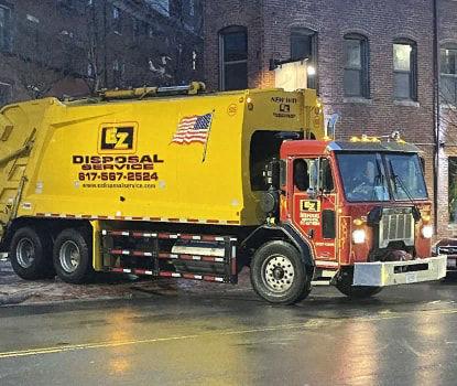 Waste management roll off dumpster