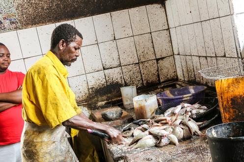 Fishmonger, Stone Town, Zanzibar