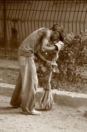 Street Cleaning, Havana, Cuba