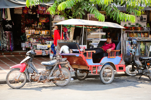 Rickshaw, Siem Reap, Cambodia