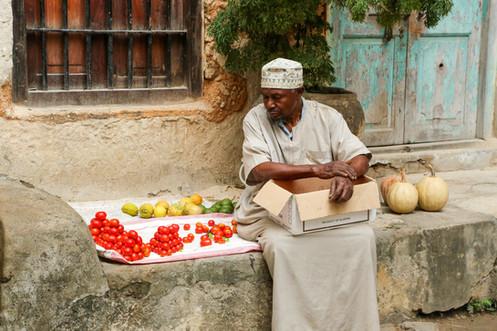 Market Trader, Stone Town, Zanzibar