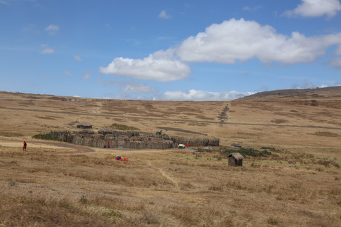 Masai Village, Serengeti Plains, Tanzania