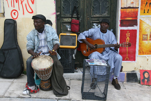 Street Performers, Athens, Greece
