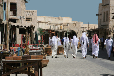 Strolling the Market, Qatar