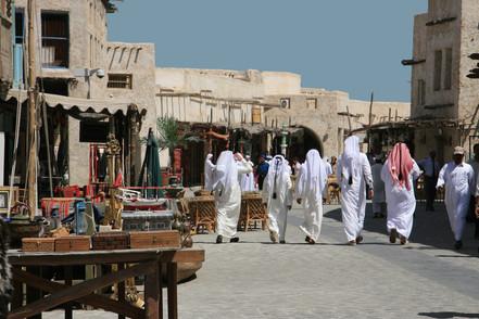 Strolling the Market, Qatar