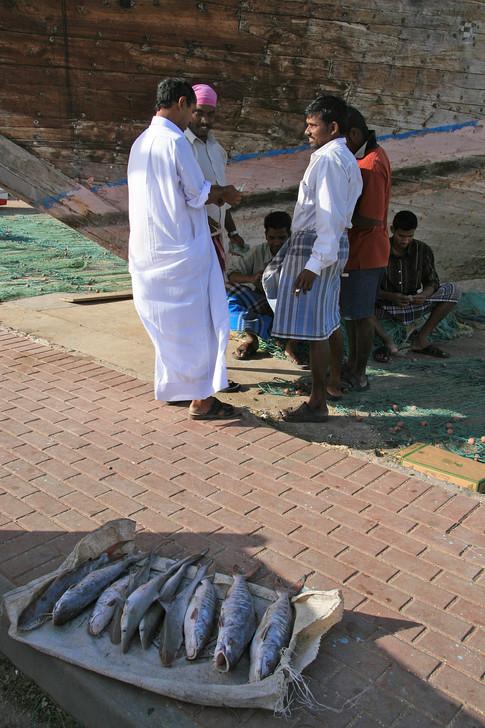 Market traders, Qatar