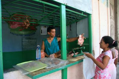 Butchers, Havana, Cuba