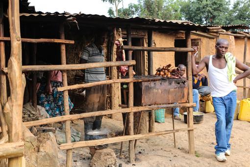 Food stall, Lake Bunyonyi Village