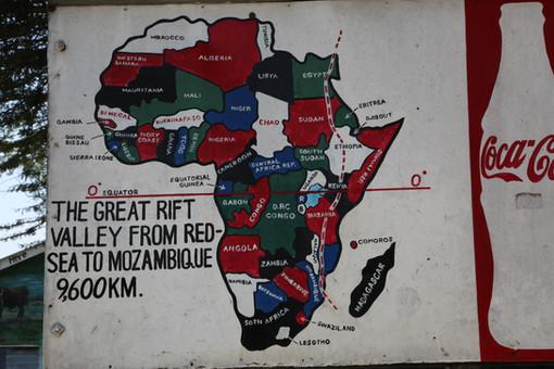 Mural, Great Rift Valley, Kenya