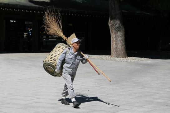 Street Cleaner, Tokyo, Japan
