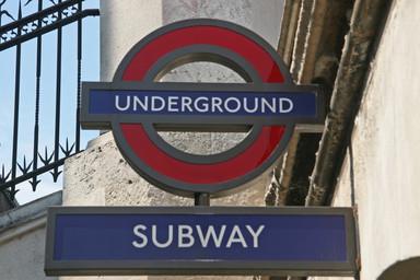 Subway sign, London