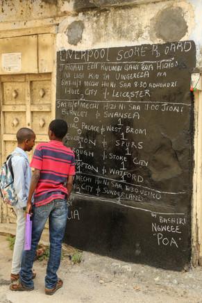 Football scores, Stone Town, Zanzibar