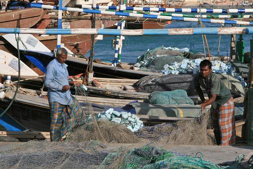 Fishermen, Al Khor Harbour, Qatar