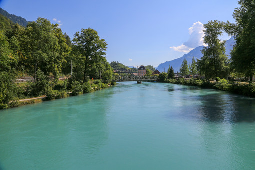 River Aare, Interlaken, Switzerland