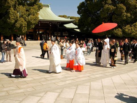 Japanese wedding, Tokyo, Japan