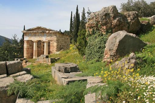 Archaeological remains, Delphi, Greece