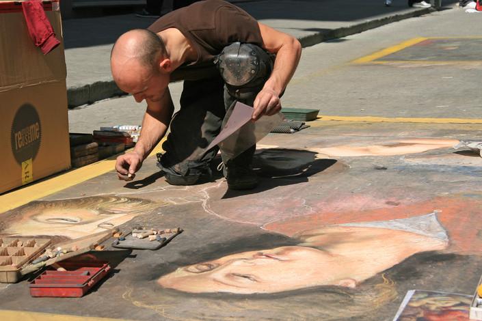 Street Artist, Florence, Italy