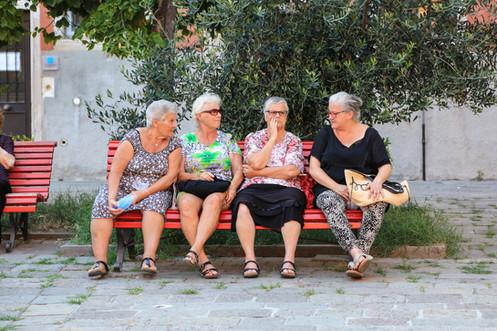 Conversation, Venice, Italy