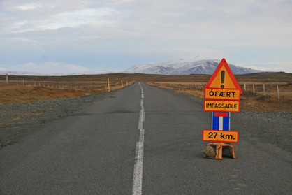 Road Sign, Iceland