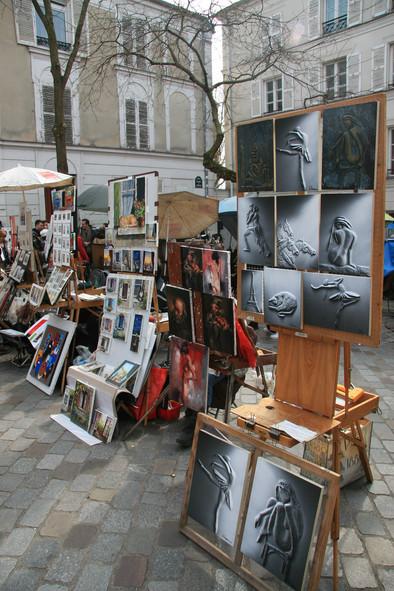 Place du Tertre (Artists' Square), Montmatre, Paris, France