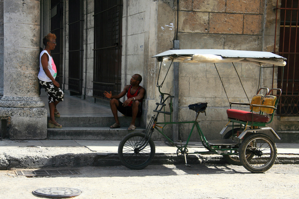 Chatting, Havana, Cuba