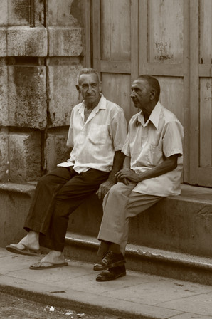 Conversation, Havana, Cuba
