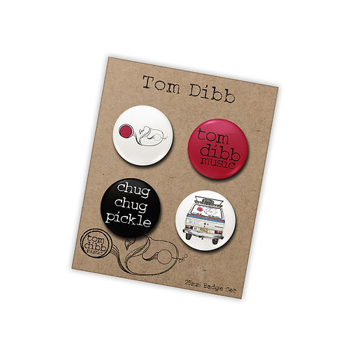 4 Piece Pin Badge Set