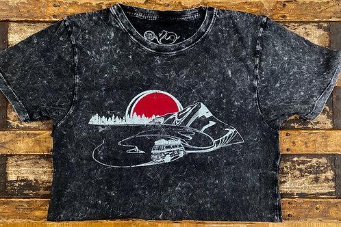 'Hit The Road' T-Shirt Acid Black