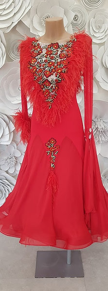 Ballroom Red Feathers