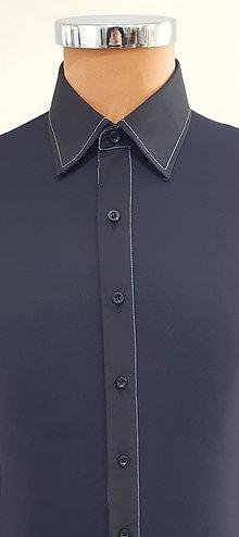 camicia nera cuciture bianche