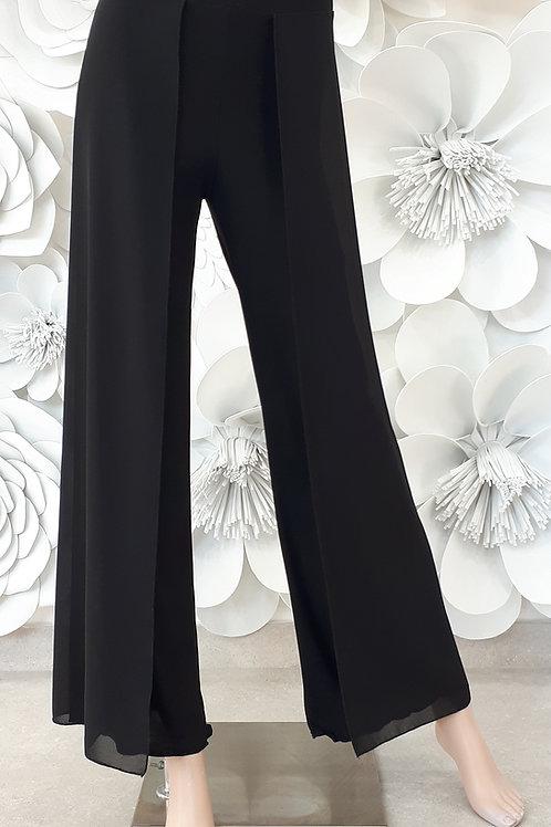 Pantalone B-stretch con pannello laterale Georgette