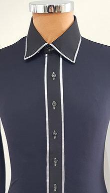 Camicia Nera, bordata grigio