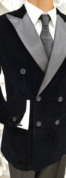 Jacket Black Velvet B-Stretch - Pret a Porter