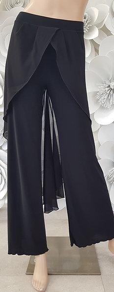 Pantalone b-stretch, pannello con georgette punta dietro