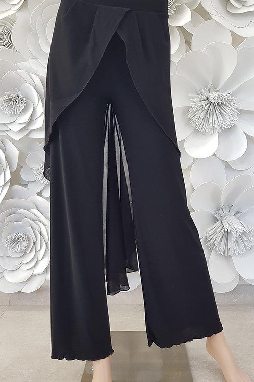 Pantalone b-stretch, pannello georgette punta dietro