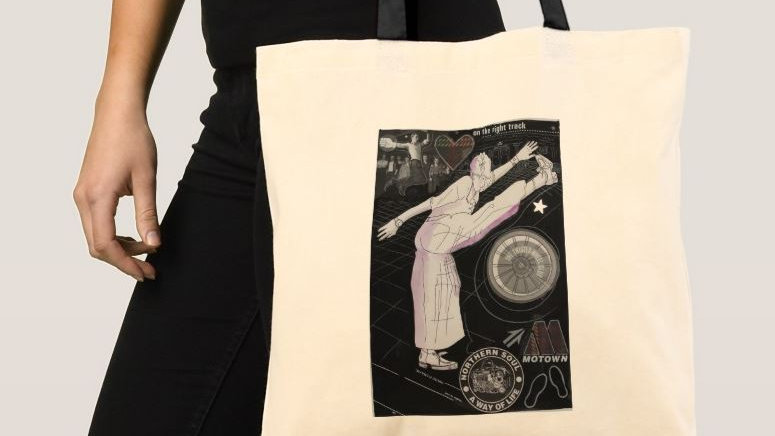 On the right track - Northern Soul Tote bag (Various designs available)