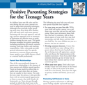 Positive Parenting Strategies for Terens