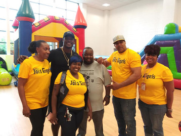 Mark, Joi & Crew with Tahir Whitehead of the Oakland Raiders