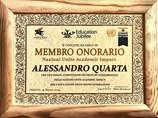"""Alessandro Quarta riceve il Premio dall'UNESCO come """"Membro Onorario"""""""