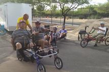 Tuesday ride Alan Marcia Rudy with VA pa