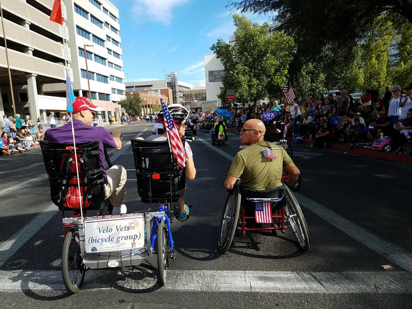 2017 Vets Day Parade side by side rollin